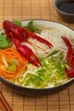 Crawfish Noodle Soup Stock Image
