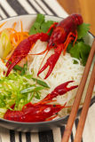 Crawfish Noodle Soup Royalty Free Stock Images