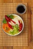 Crawfish Noodle Soup Stock Images