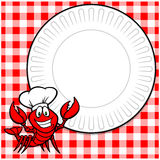 Crawfish Supper Invitation Royalty Free Stock Photo