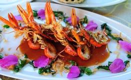 Crawfish Tamarind Sauce Stock Photos