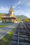 Crawford Depot along the scenic train ride to Mount Washington, New Hampshire Royalty Free Stock Photos