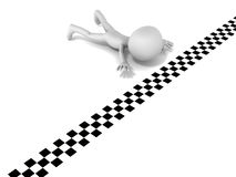 Crawl to finish line Stock Image