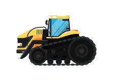 Crawler agriculture tractor vector illustration Royalty Free Stock Photography