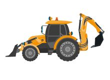 Crawler continuous tracked tractor equipped with substantial metal plate blade Stock Photography