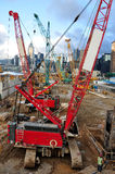 Crawler Crane. S in the construction area Royalty Free Stock Images