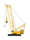 Crawler crane. Hydraulic crawler crane  illustration on white background Stock Images