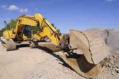Crawler excavator Royalty Free Stock Images
