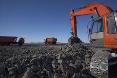 Crawler excavator Royalty Free Stock Photography
