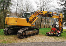 Crawler Excavator Stock Photography