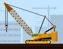 Crawler lattice boom crane Royalty Free Stock Photos