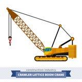 Crawler lattice boom crane Stock Photo