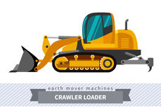 Crawler loader for earthwork operations Royalty Free Stock Photo