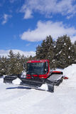 Crawler ratrack near ski-route in mountains Stock Photos