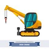 Crawler telescopic boom mini crane Stock Image