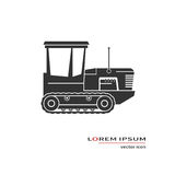 Crawler tractor icon Royalty Free Stock Photography