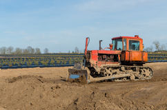 Crawler tractor Royalty Free Stock Image
