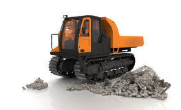 Crawler Type Vehicle - Shot 1 Royalty Free Stock Image