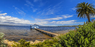 Crawley Boat Shed, Perth, Western Australia. Stock Photos