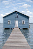 Crawley Edge Boatshed aka. Matilda Bay Boatshed. The boatshed, situated in Matilda Bay, is thought to have been originally constructed in the early 1930s Royalty Free Stock Images