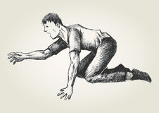 crawling vector illustratie