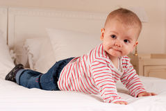 Crawling baby Royalty Free Stock Photo