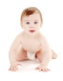 Crawling baby boy #2 Stock Images