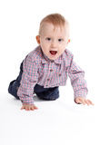 Crawling baby boy Royalty Free Stock Photography