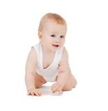 Crawling baby boy Royalty Free Stock Photos