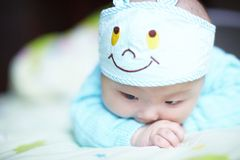 Crawling  baby boy Royalty Free Stock Images