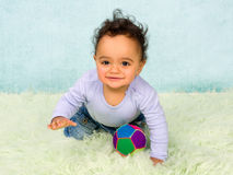 Crawling baby boy Stock Photo