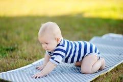 Crawling baby boy Stock Image