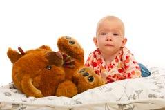 Crawling baby girl Stock Image