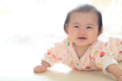Crawling baby girl Royalty Free Stock Images