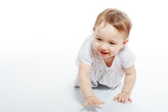 Crawling baby girl Royalty Free Stock Photo