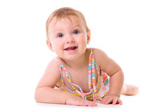 Crawling baby isolated Royalty Free Stock Photo