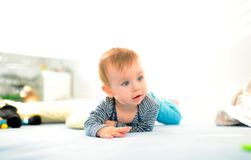 Crawling baby kid Stock Images