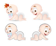 Crawling Baby Vector. Creative Abstract Conceptual Artistic Design of Crawling Baby Vector Illustration Royalty Free Stock Photos