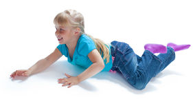 Crawling baby Royalty Free Stock Photo