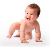 Crawling boy stock photography