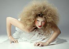Crawling girl Stock Photography