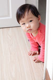 Crawling girl baby Stock Images