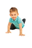 Crawling happy toddler boy Royalty Free Stock Photography