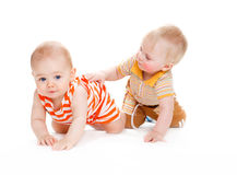 Crawling kids Stock Images