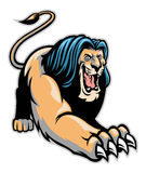 Crawling lion mascot. Vector of crawling lion mascot Royalty Free Stock Images