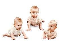 Crawling little baby girl Royalty Free Stock Photography