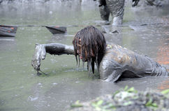 Crawling Though Thick Mud Royalty Free Stock Photos
