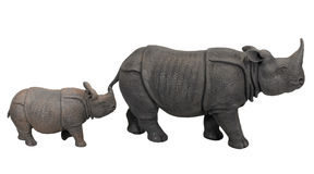 Cray rhinos Royalty Free Stock Images