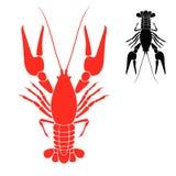 Crayfish. Логос Стоковые Фотографии RF