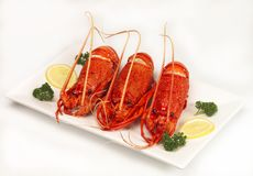 Crayfish. A platter of crays ready for the eating Royalty Free Stock Photo
